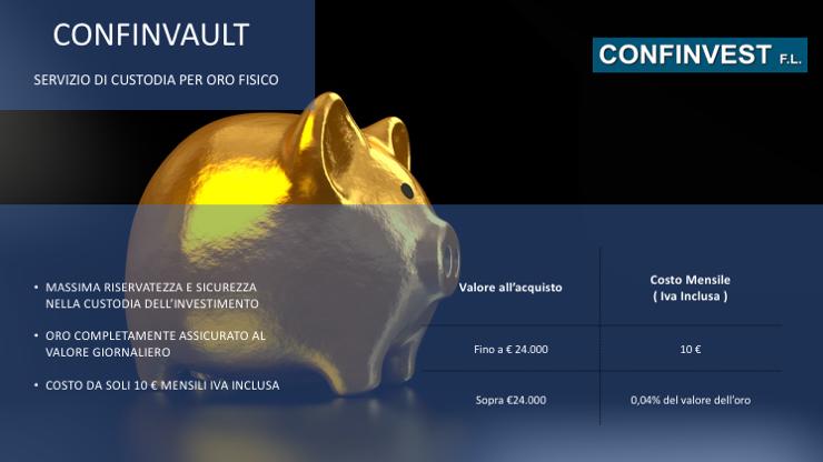 Confinvault - Custodire oro fisico in completa sicurezza