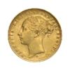 Sterlina vecchio conio Vittoria Testa giovane 1871-1885 fronte comprare e vendere oro fisico da investimento