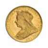 Sterlina vecchio conio Vittoria testa vecchia 1893-1901 fronte comprare e vendere oro fisico da investimento